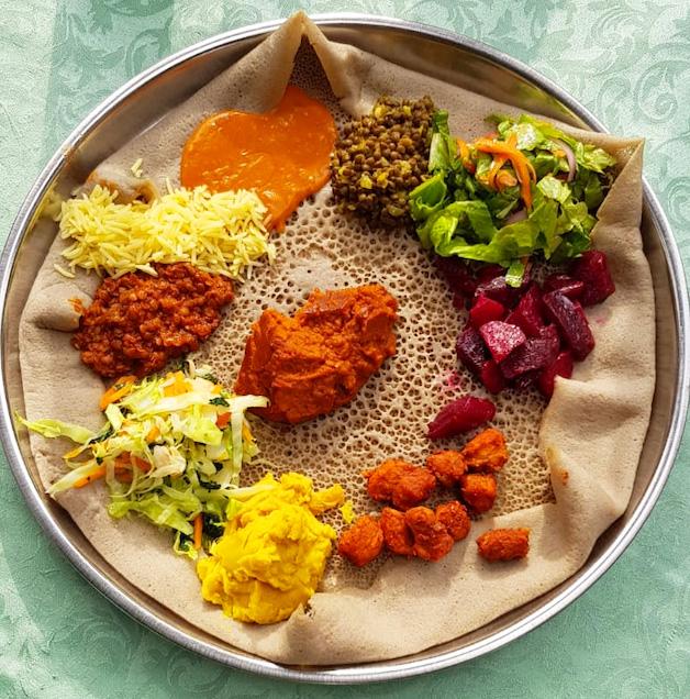 אוכל אתיופי מיוחד וטעים. צילום: ענת ברק
